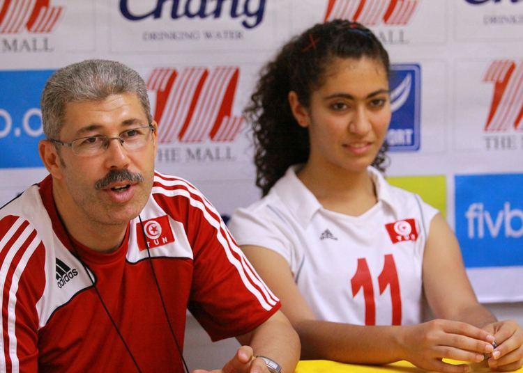 Maroua Boughanmi Tunisia head ccoach Ben Kaid Slim and team captain Maroua Boughanmi