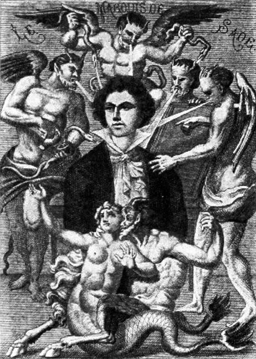 Illustration of the love and lust of Marquis de Sade