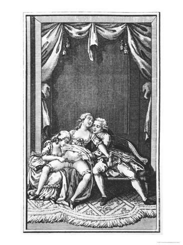 Illustration from one of the novels of Marquis de Sade