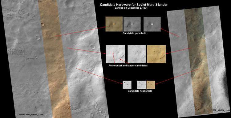 Mars 3 Mars orbiter finds remains of pioneering Soviet Mars 3 probe The