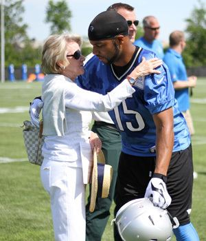 Martha Firestone Ford Showing support for team important to Martha Firestone Ford
