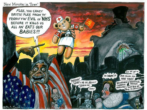 Martin Rowson Martin Rowson on US healthcare debate Opinion The Guardian