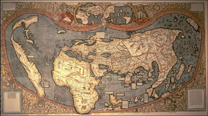 Martin Waldseemüller Universalis Cosmographia Secundum Ptholomaei Traditionem Et Americi