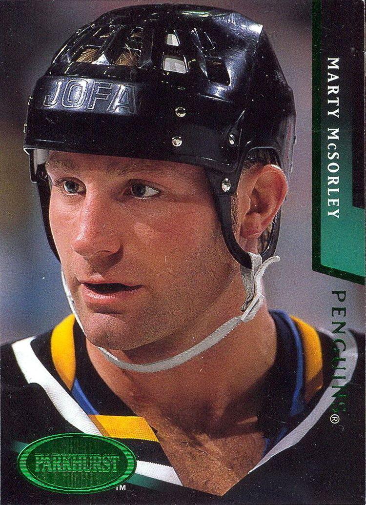 Marty McSorley wwwpenguinshockeycardscomplayersmartymcsorl