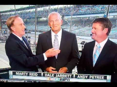 Marty Reid Marty Reid forgets Andy Petree39s name LIVE on ESPN YouTube