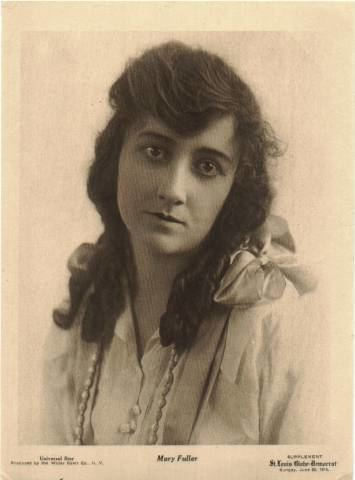 Mary Fuller History through Sales Trading card of early film star