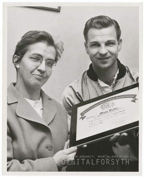 Mary Garber Digital Forsyth Mary Garber and Gene Hooks 1958