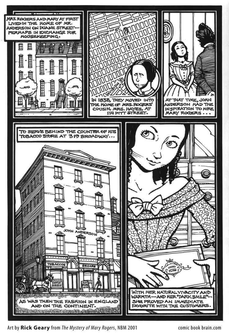 Mary Rogers Rick Geary Page The Mystery of Mary Rogers Page A