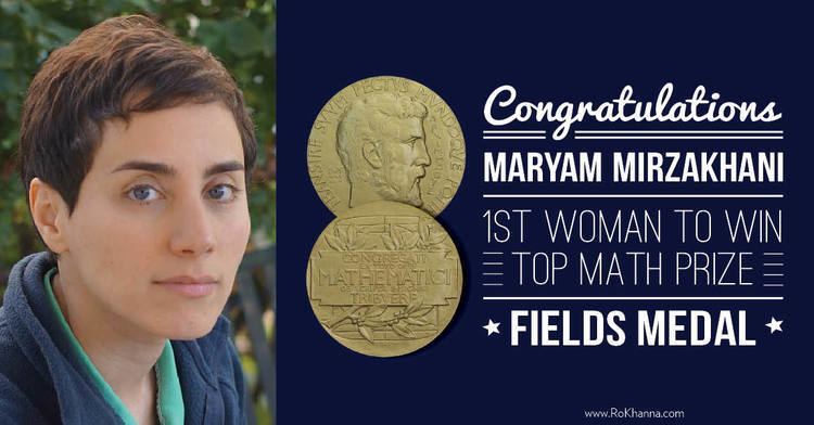Maryam Mirzakhani Ro Khanna on Maryam Mirzakhani Becoming the First Woman to