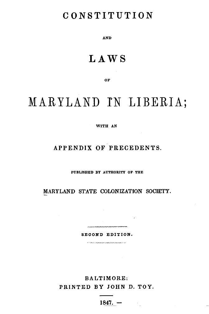 Maryland State Colonization Society