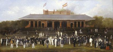 Marylebone Cricket Club Portrait Group of Members of the Marylebone Cricket Club Outside the