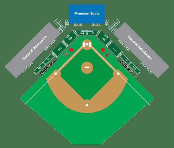 Marysville Gold Sox Official Website of the Marysville Gold Sox Stadium Map