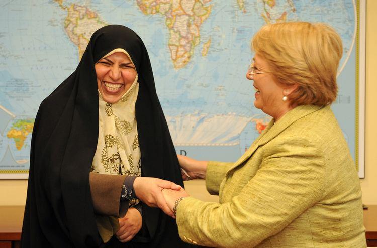 Marzieh Vahid-Dastjerdi UN Women Executive Director Michelle Bachelet meets with