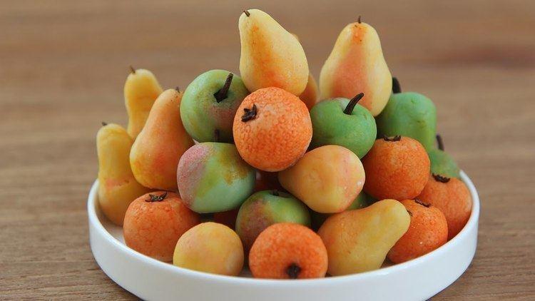 Marzipan Make Marzipan Fruit Marzipan Apples Pears Oranges YouTube