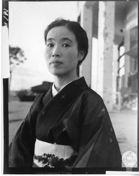 Masaharu Homma Truman Library Photograph Wife of General Masaharu Homma
