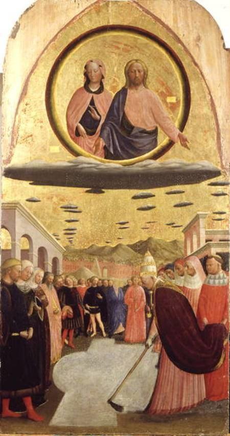 Masolino da Panicale Pope Liberius r35266 Founding the Ba Tommaso