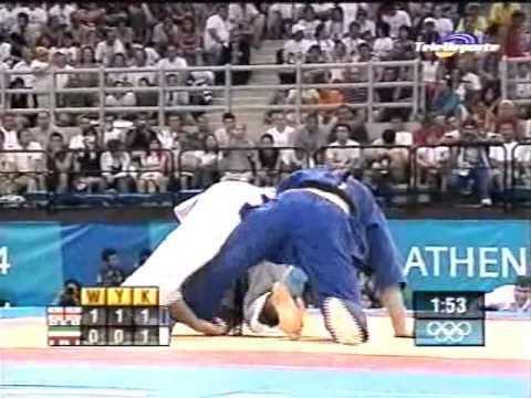 Masoud Haji Akhondzadeh Judo Atenas 2004 Nestor Khergiani GEO vs Masoud Haji Akhondzadeh IRI