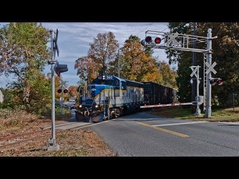 Massachusetts Central Railroad HD Chasing the Mass Central Railroad 100313 YouTube