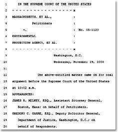 Massachusetts v. Environmental Protection Agency wwwpbsorgwnetsupremecourtfutureimagesdocume