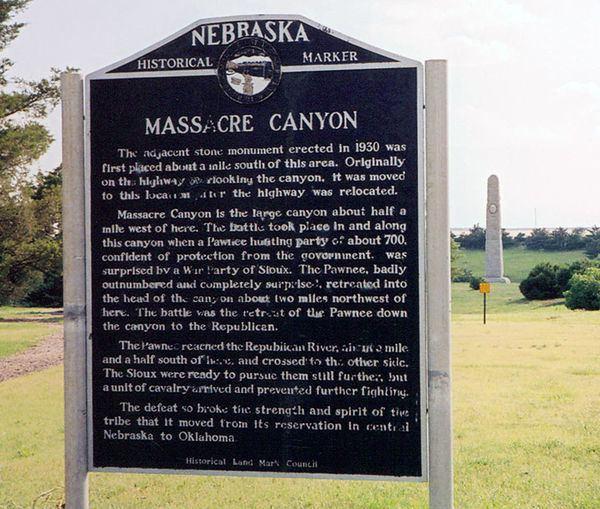 Massacre Canyon Nebraska Historical Marker Massacre Canyon E Nebraska History