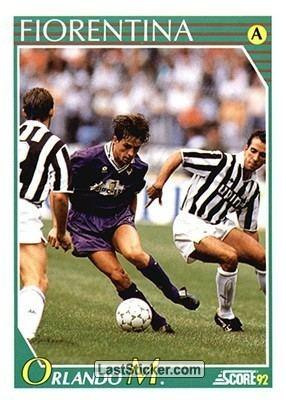 Massimo Orlando Card 83 Massimo Orlando Score Italian League 1992 laststickercom
