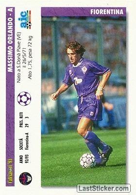 Massimo Orlando Card 393 Massimo OrlandoGabriel Batistuata Joker Italian League