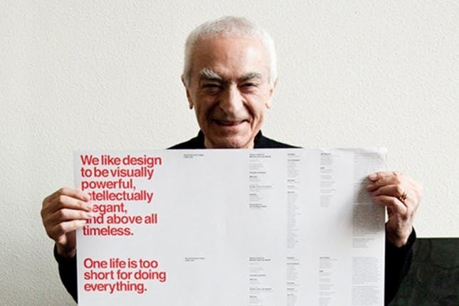 Massimo Vignelli 10 Beautiful Things We Have Massimo Vignelli to Thank For