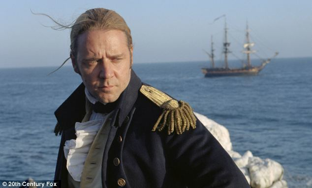 Master and Commander: The Far Side of the World movie scenes Silver screen Russell Crowe portrayed Patrick O Brian s beloved hero Captain Jack Aubrey