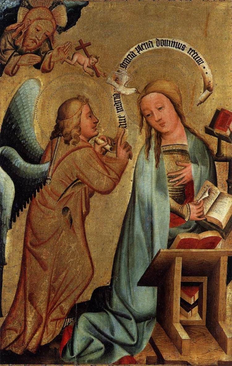 Master Bertram St Peter Grabow Altarpiece Annunciation by MASTER Bertram