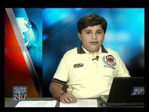 Master Manjunath Seg 1 Master Manjunath news reading 14 Nov 11 Suvarna News