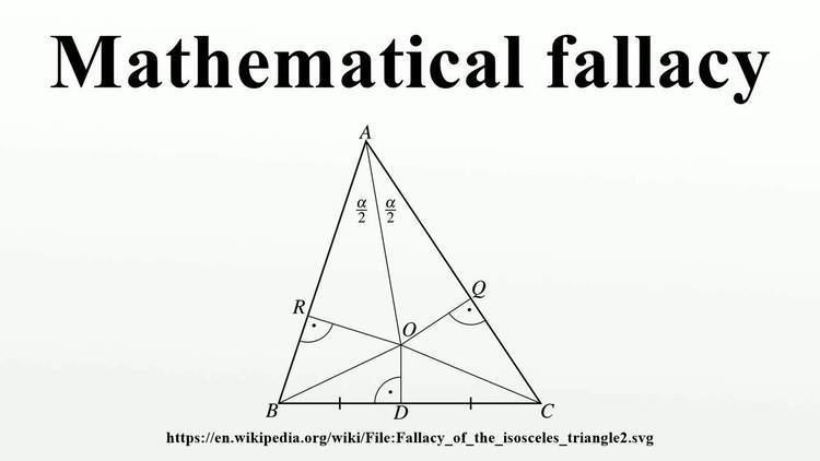 Mathematical fallacy Mathematical fallacy YouTube