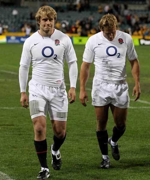Mathew Tait England39s Mathew Tait and Jonny Wilkinson trudge from the