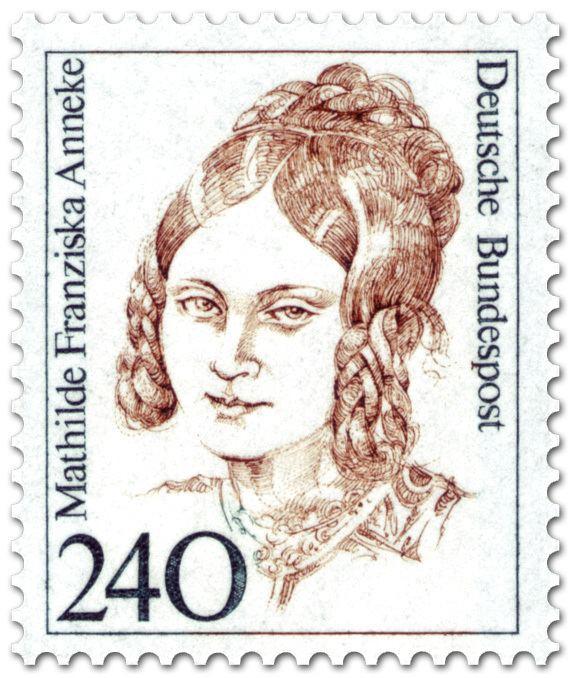 Mathilde Franziska Anneke Mathilde Franziska Anneke Schriftstellerin Briefmarke 1988