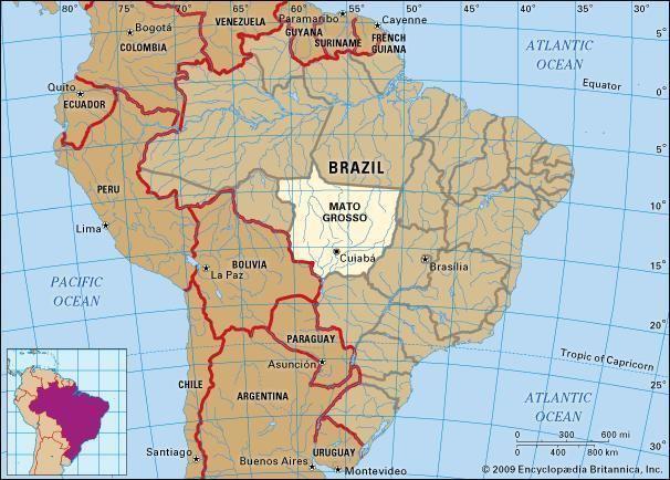 Mato Grosso in the past, History of Mato Grosso
