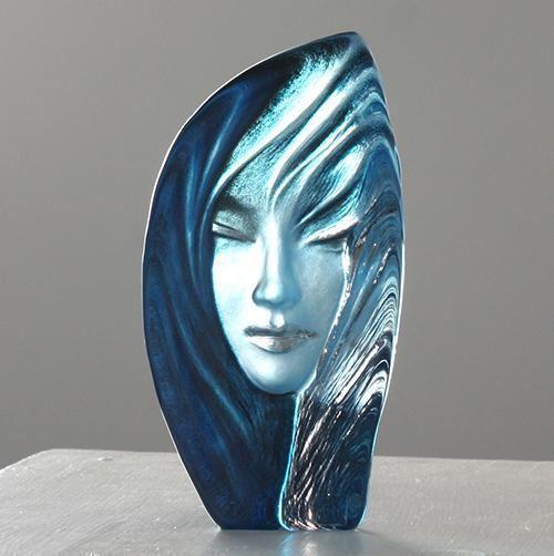 Mats Jonasson noviata blue glass sculpture by mats jonasson Mats Jonasson