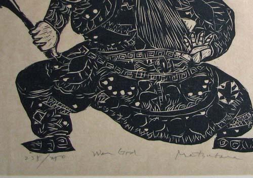 Matsubara Naoko Naoko Matsubara War God Woodcut