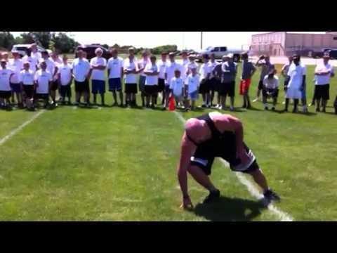 Matt Bowen (American football) KVB vs Matt Bowen in 300 yd shuttle YouTube