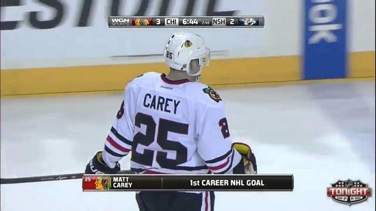 Matt Carey Matt Carey first NHL scores YouTube