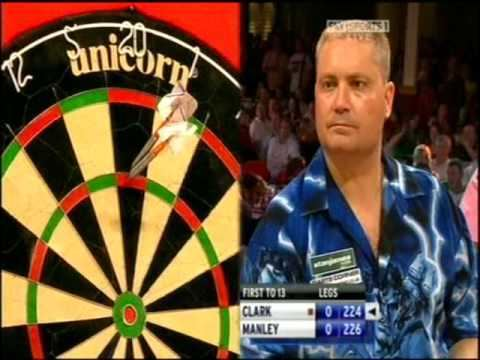 Matt Clark (darts player) Matchplay 2008 Rd 2 Matt Clark v Peter Manley pt 1 YouTube