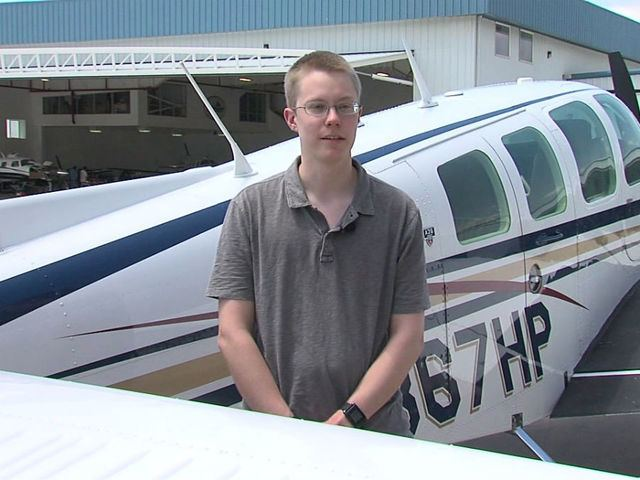 Matt Guthmiller Young pilot will try to break world record 10Newscom