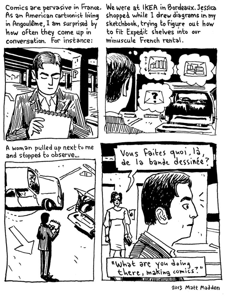 Matt Madden Interview with Comic Artist Matt Madden French Culture