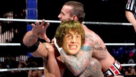 Matt Riddle CM Punk versus Matt Riddle MMA Photo