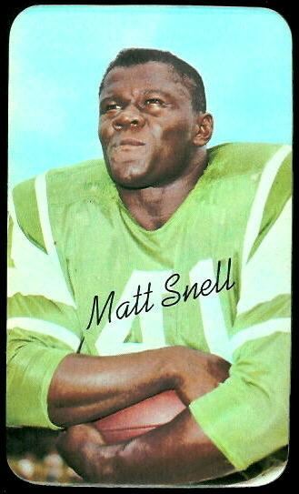 Matt Snell Matt Snell 1970 Topps Super 20 Vintage Football Card