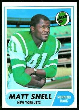 Matt Snell Matt Snell 1968 Topps 117 Vintage Football Card Gallery