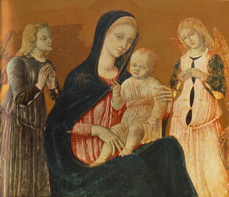 Matteo di Giovanni Madonna with Child and Two Angels by MATTEO di Giovanni