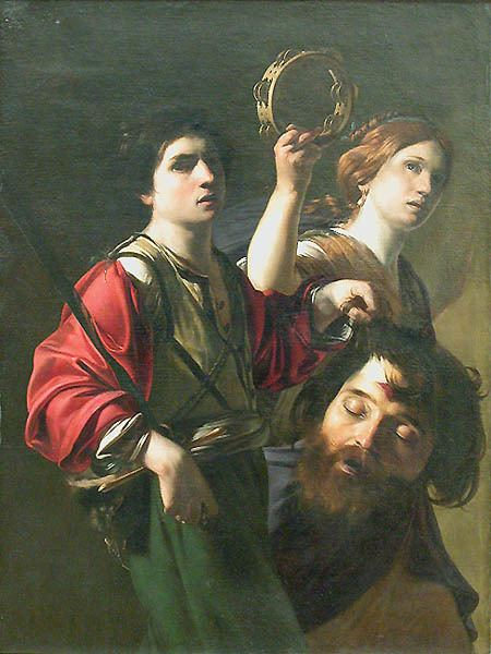 Matteo Rosselli The Triumph of David a painting in the louvre