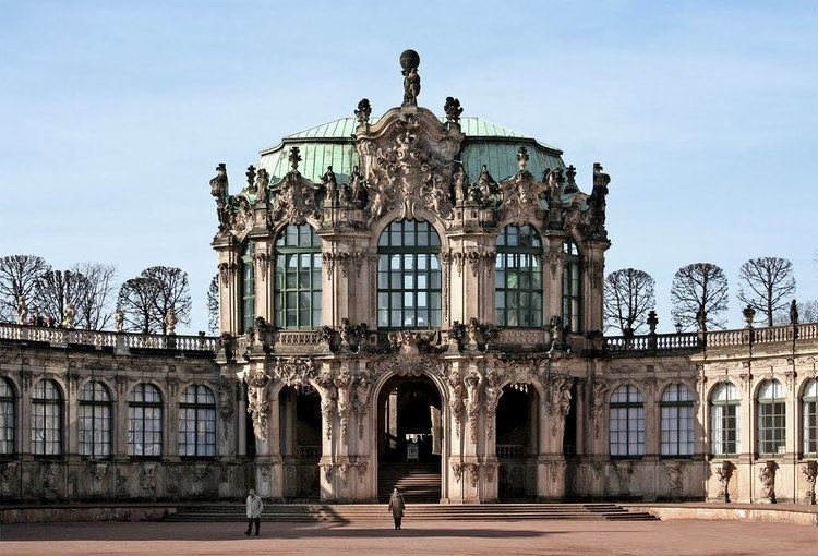 Matthaus Daniel Poppelmann Panoramio Photo of Dresden Zwinger