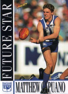 Matthew Capuano NORTH MELBOURNE Matthew Capuano 215 SELECT 1996 Australian Rules