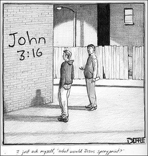 Matthew Diffee Rejected A Jesus Graffiti Cartoon NPR