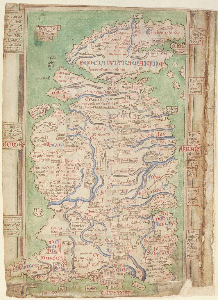 Matthew Paris Map by Matthew Paris c1250 The National Archives